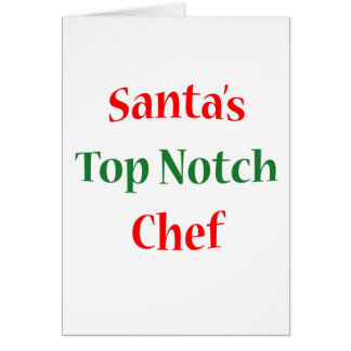 Chef Top Notch Greeting Card