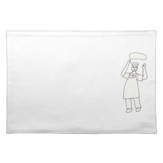 Chef Tossing Pizza Outline Coloring Placemats
