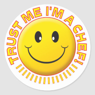 Chef Trust Me Smiley Classic Round Sticker