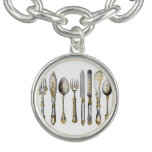 Chef utensils place setting bracelet
