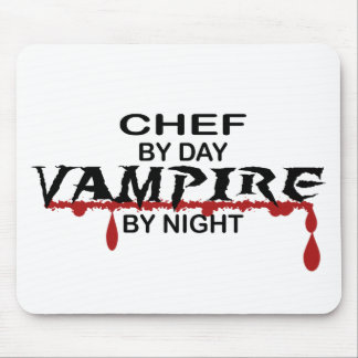 Chef Vampire by Night Mouse Pad
