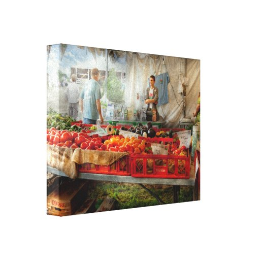 Chef - Vegetable - Jersey Fresh Farmers Market Gallery Wrap Canvas