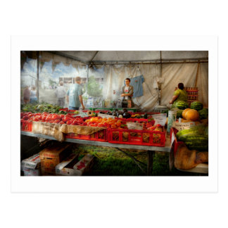 Chef - Vegetable - Jersey Fresh Farmers Market Postcard
