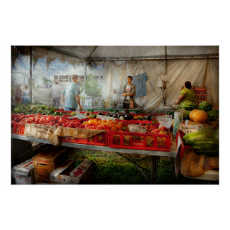 Chef - Vegetable - Jersey Fresh Farmers Market Poster