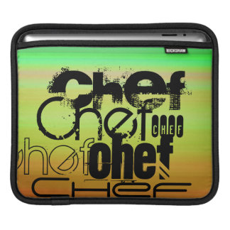 Chef; Vibrant Green, Orange, & Yellow iPad Sleeve