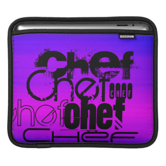 Chef; Vibrant Violet Blue and Magenta Sleeve For iPads