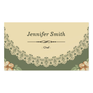 Chef - Vintage Chic Floral Business Card