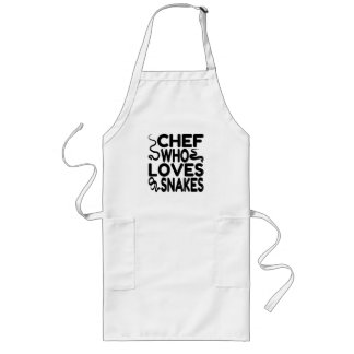 Chef Who Loves Snakes Long Apron