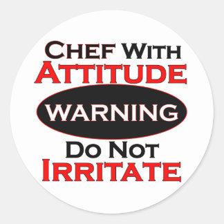Chef With Attitude Classic Round Sticker