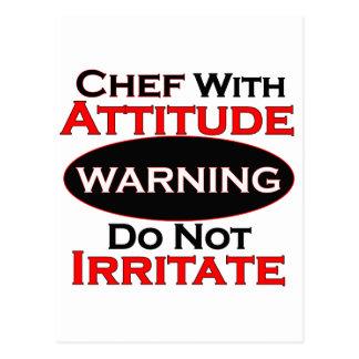 Chef With Attitude Postcard