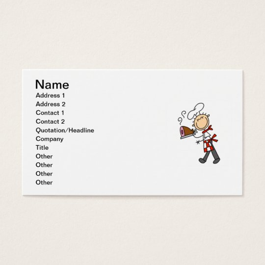 Chef With Baked Ham Business Card