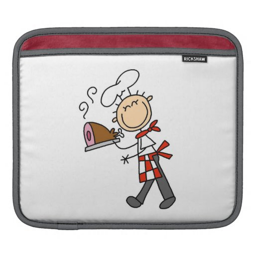 Chef With Baked Ham iPad Sleeves