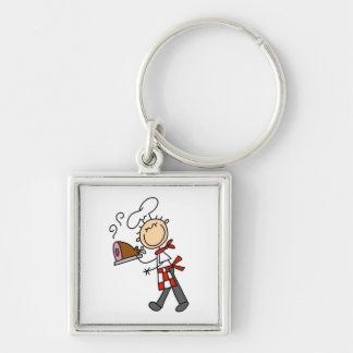 Chef With Baked Ham Keychain