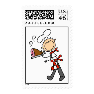 Chef With Baked Ham Stamps