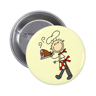 Chef with Baked Ham Tshirts and Gifts Button