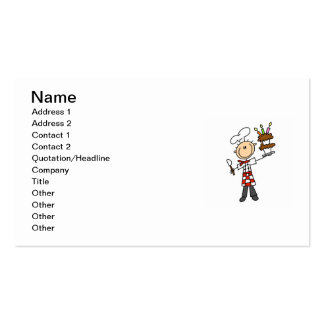 Chef With Birthday Cake Double-Sided Standard Business Cards (Pack Of 100)