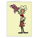 Chef With Cake T-shirts and Gifts Greeting Cards