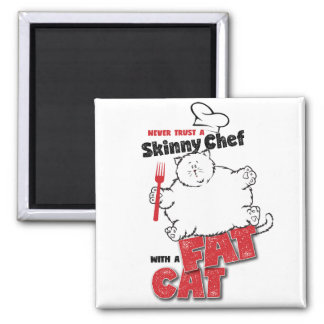 Chef with Fat Cat - Magnet 2