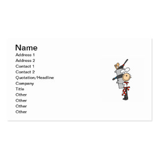 Chef With Pots and Pans Double-Sided Standard Business Cards (Pack Of 100)