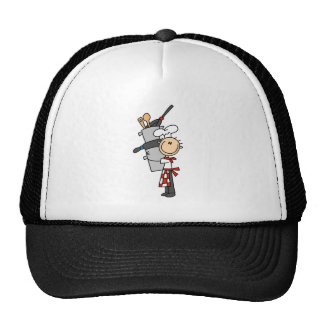 Chef with Pots and Pans Hats