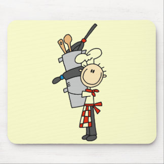 Chef with Pots and Pans Tshirts and Gifts Mouse Pad