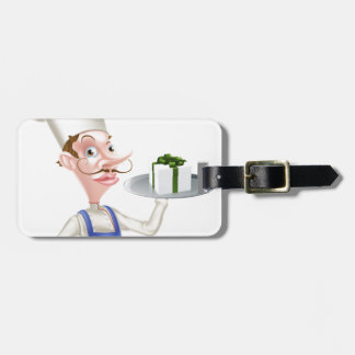 Chef with Present Luggage Tags