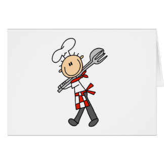 Chef with Salad Tongs Cards