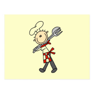 Chef With Salad Tongs Postcard
