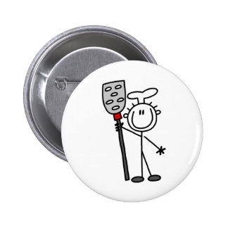 Chef with Spatula Button