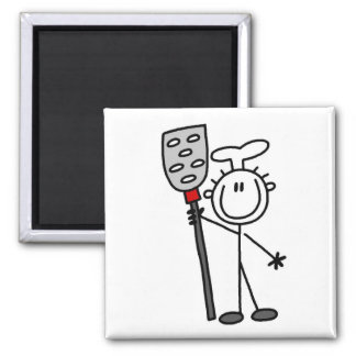 Chef with Spatula Tshirts and Gifts 2 Inch Square Magnet