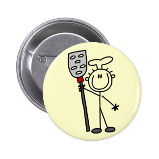 Chef with Spatula Tshirts and Gifts Button