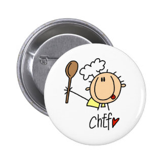 Chef With  Spoon Tshirts and Gifts Pin