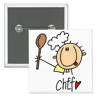 Chef With  Spoon Tshirts and Gifts Pinback Buttons