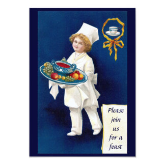 Chef with Tureen of Soup and Fruit Thanksgiving Card