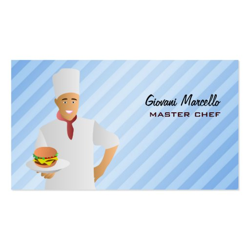 Chef with Veggie burger Business Cards