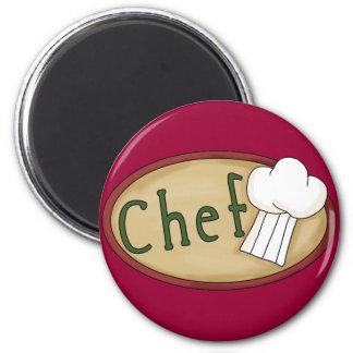 chef_word_art 2 inch round magnet
