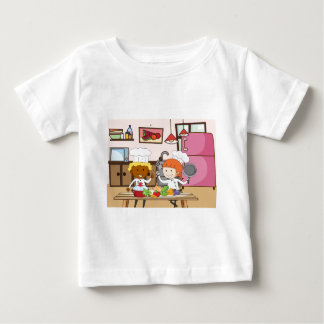 Chef working in the kitchen infant t-shirt