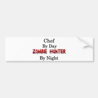 Chef/Zombie Hunter Car Bumper Sticker
