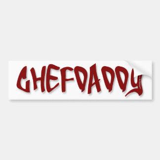 CHEFDADDY ETIQUETA DE PARACHOQUE