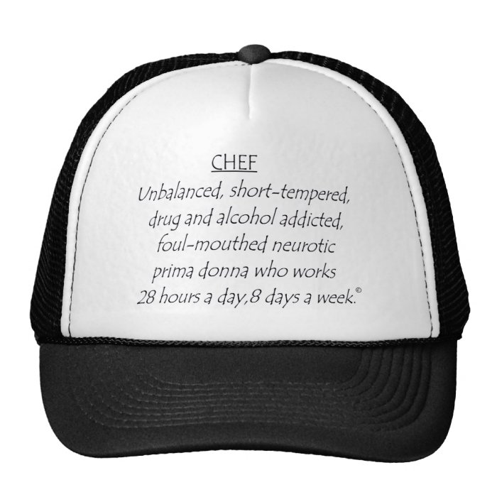 chefdefined trucker hat