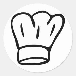 chefhat round sticker