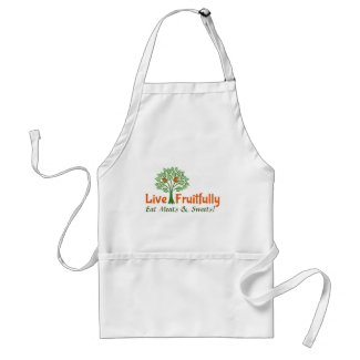Chef's Apron with Live Fruitfully Design