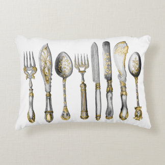 chefs catering cutlery business accent pillow