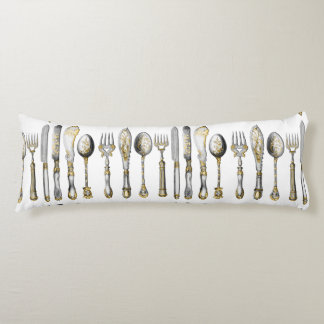 chefs catering cutlery business body pillow