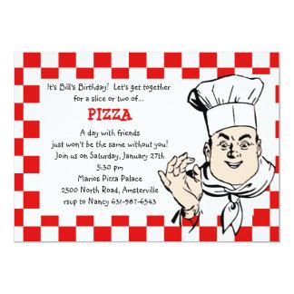 Chef's Check Invitation
