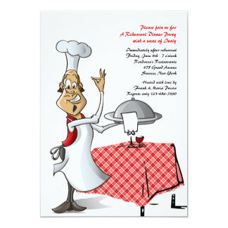 "Chef's Choice Wedding Rehearsal Dinner Invitation 5"" X 7"" Invitation Card"