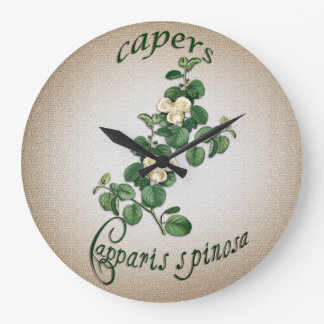 Chef's clock Capers vintage illustration