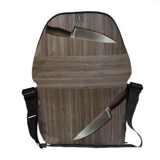 """Chef's """"faux bamboo"""" MESSENGER BAG"""