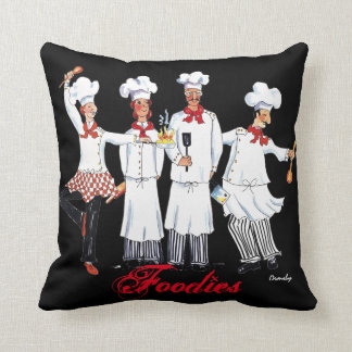 "Chefs, ""Foodies"" Throw Pillow"