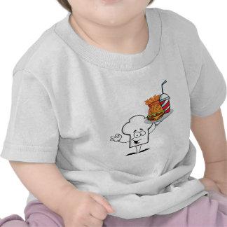 Chefs Hat Character Holder Plate Of Hamburger Tshirts